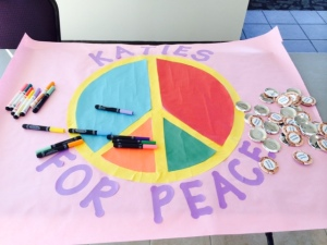 Katies for Peace Banner