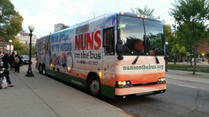Nuns On The Bus arriving in St. Paul