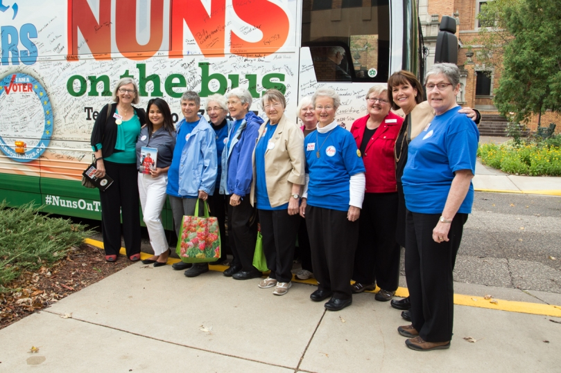 The Justice Office welcomes Nuns On The Bus and Congresswoman Betty McCollum to the CSJ St. Paul Province